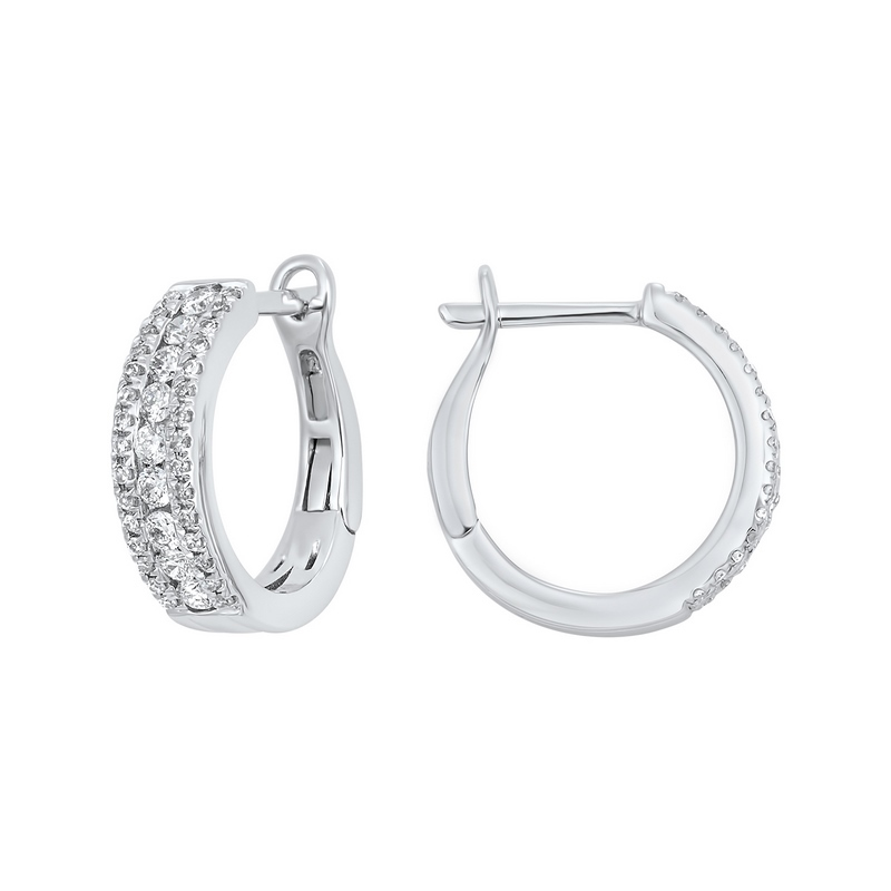 Diamond Earrings by Gems One